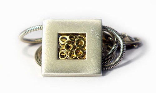 Image of Square Window Pendant With Rings