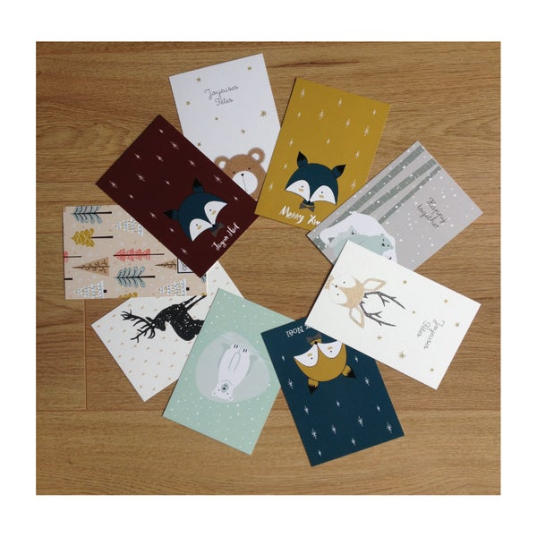 Image of Lot de 9 cartes de Noël du Studio de Julie