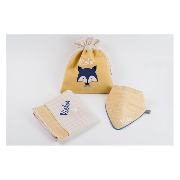 Image of Baby Box Renard for Boy personnalisée