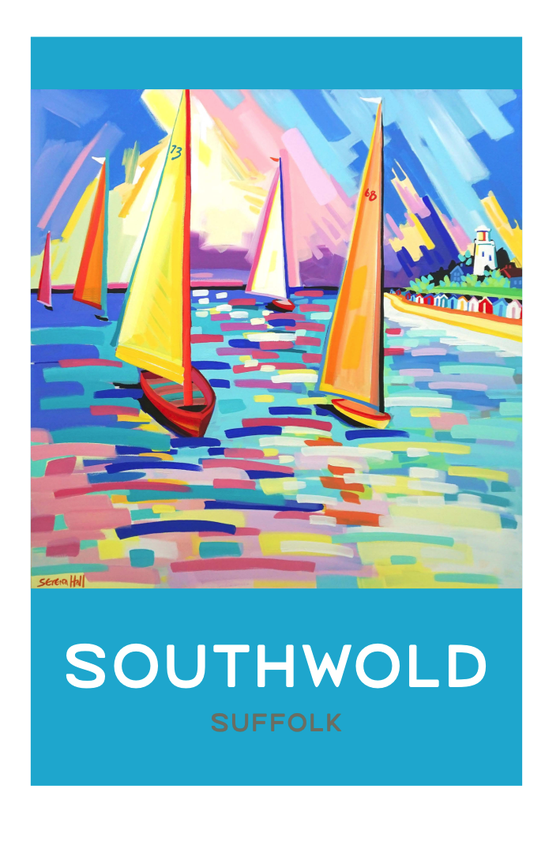Image of Large signed and numbered Blue Southwold