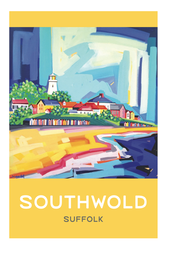 Image of Large limited edition print. Yellow Southwold