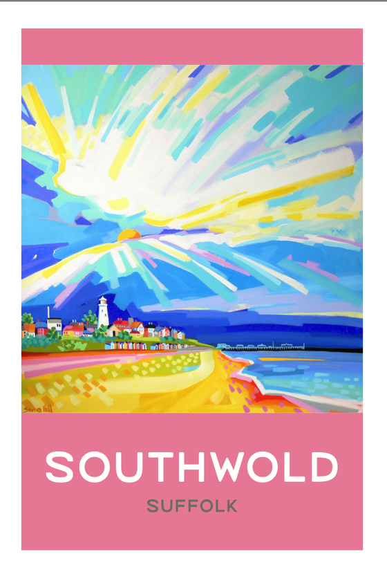 Image of Large Signed and numbered limited edition print. Pink Southwold.