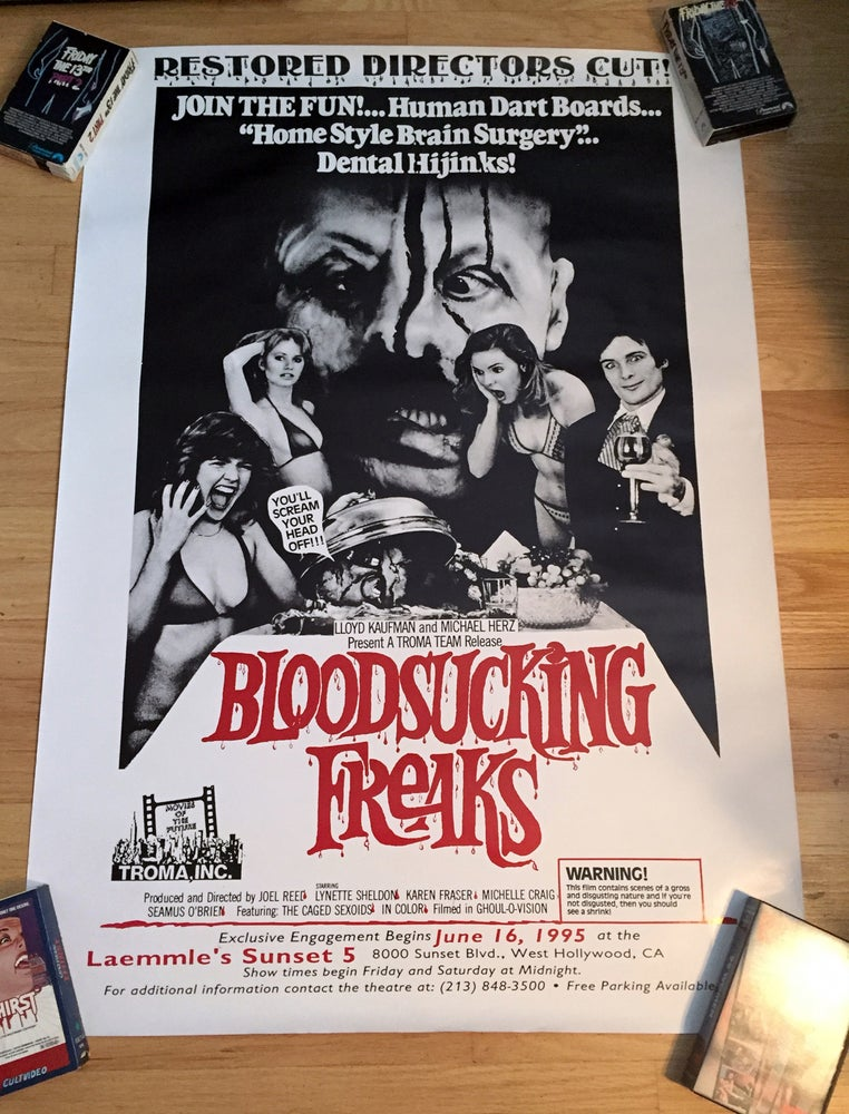 Image of 1995 BLOOD SUCKING FREAKS Original Director's Cut One Sheet Movie Poster