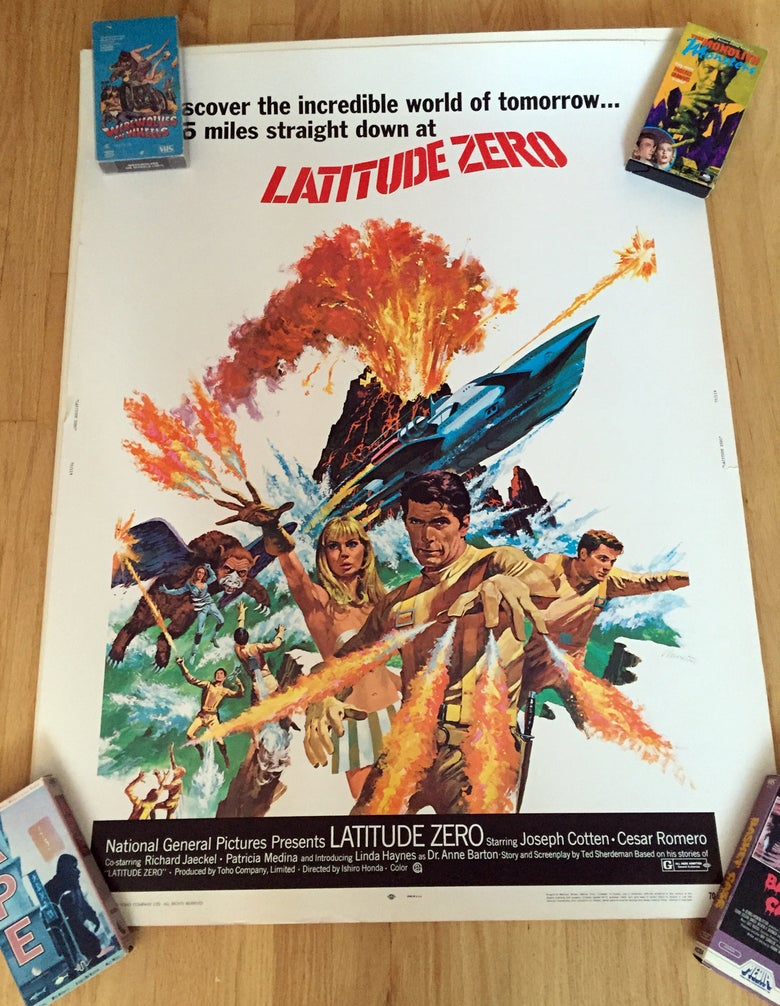 "Image of 1970 LADITUDE ZERO Original 30 x 40"" Movie Poster"