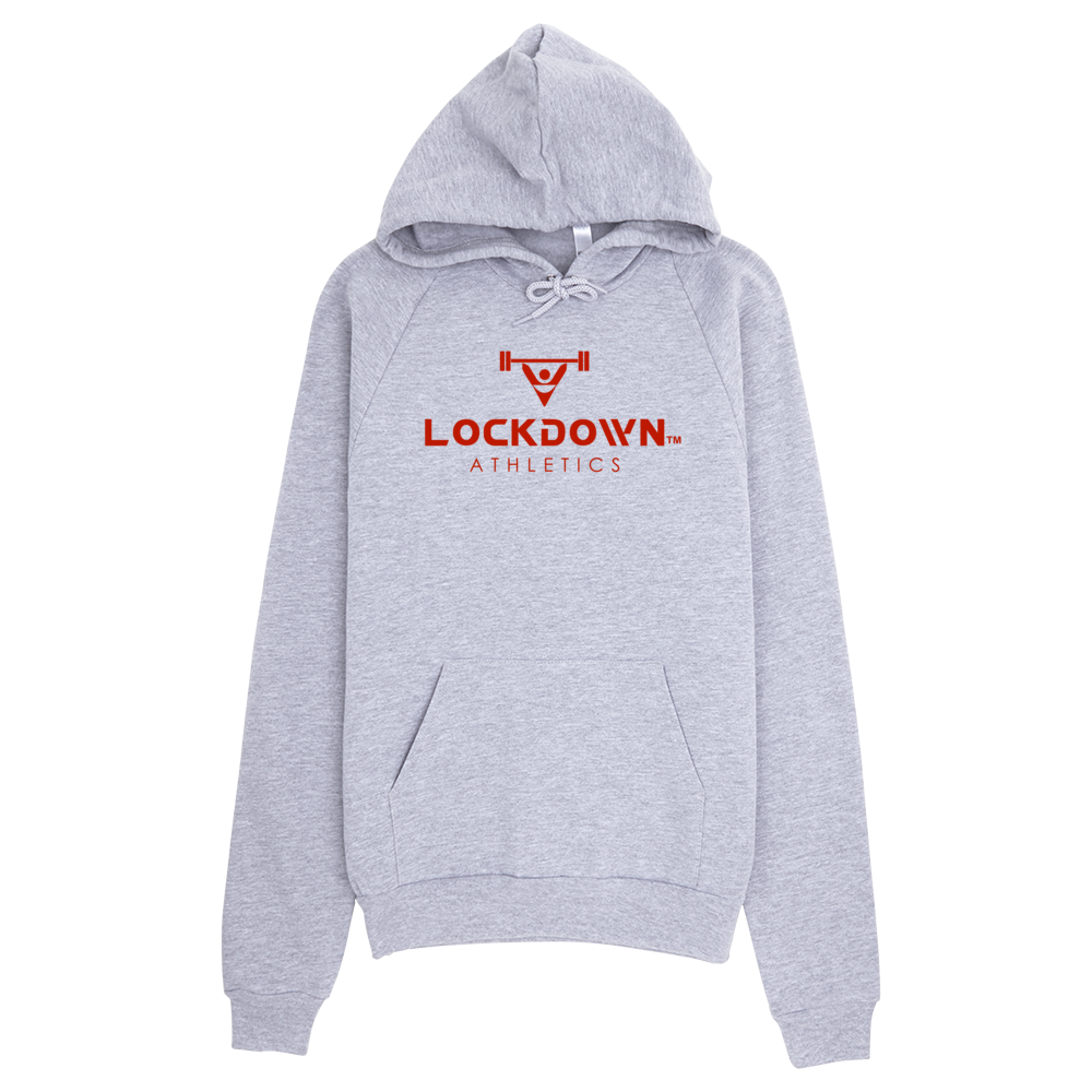 Image of Grey Lockdown Athletics Pullover Hoodie