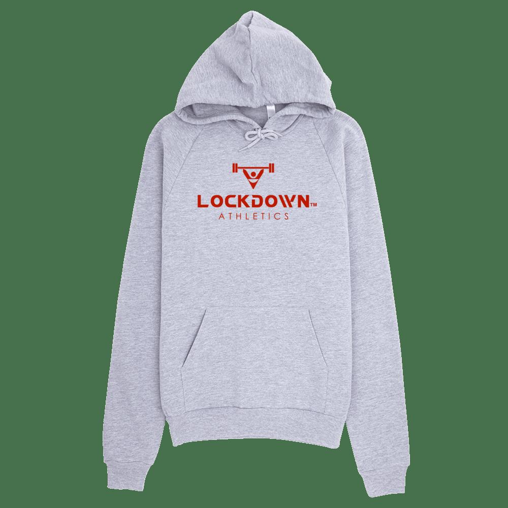 Image of Power Series Grey Lockdown Athletics Pullover Hoodie