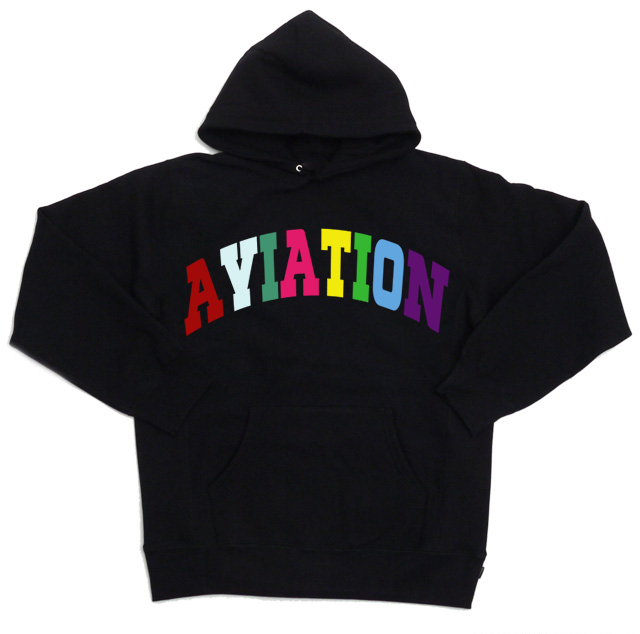 Image of Aviation 'Multi-Colored Logo' Pull Over Hoodie
