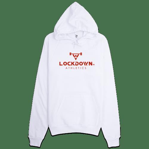 Image of White Lockdown Athletics Pullover Hoodie