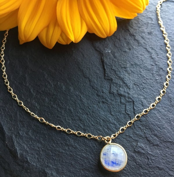 Image of 14k gold filled moonstone choker