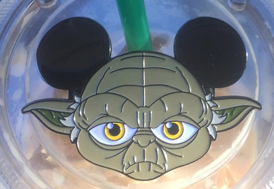 "Image of Yoda Ear Pin V2 2"" wide"
