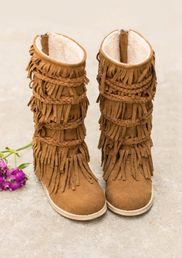 Image of Joyfolie Riley Fringe Boot in Pecan