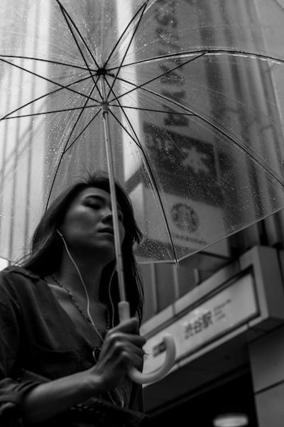 "Image of Rain Day, Tokyo, 2015 - 12"" x 18"""