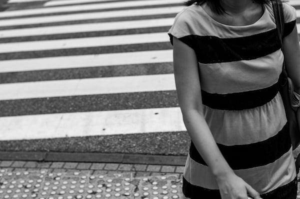 "Image of Stripes, Tokyo, 2015 - 12"" x 18"""