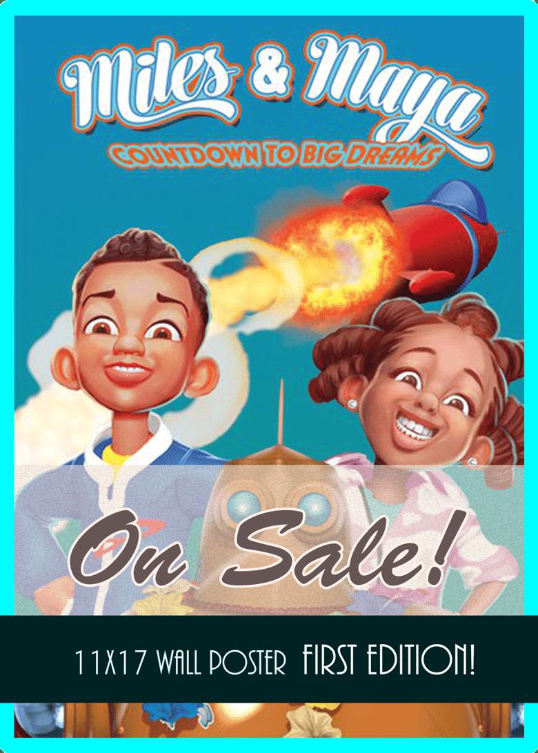 Image of Miles & Maya Poster Sale!