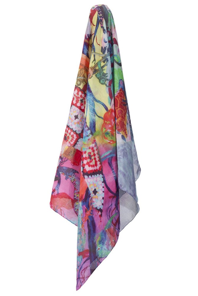 Image of roots and spirits scarf