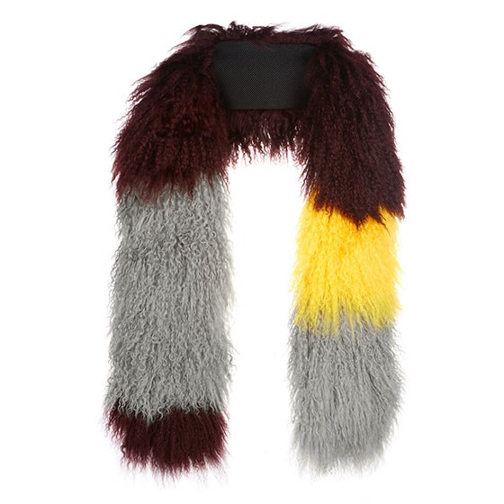 Image of AW16 Grey Wine & Yellow scarf