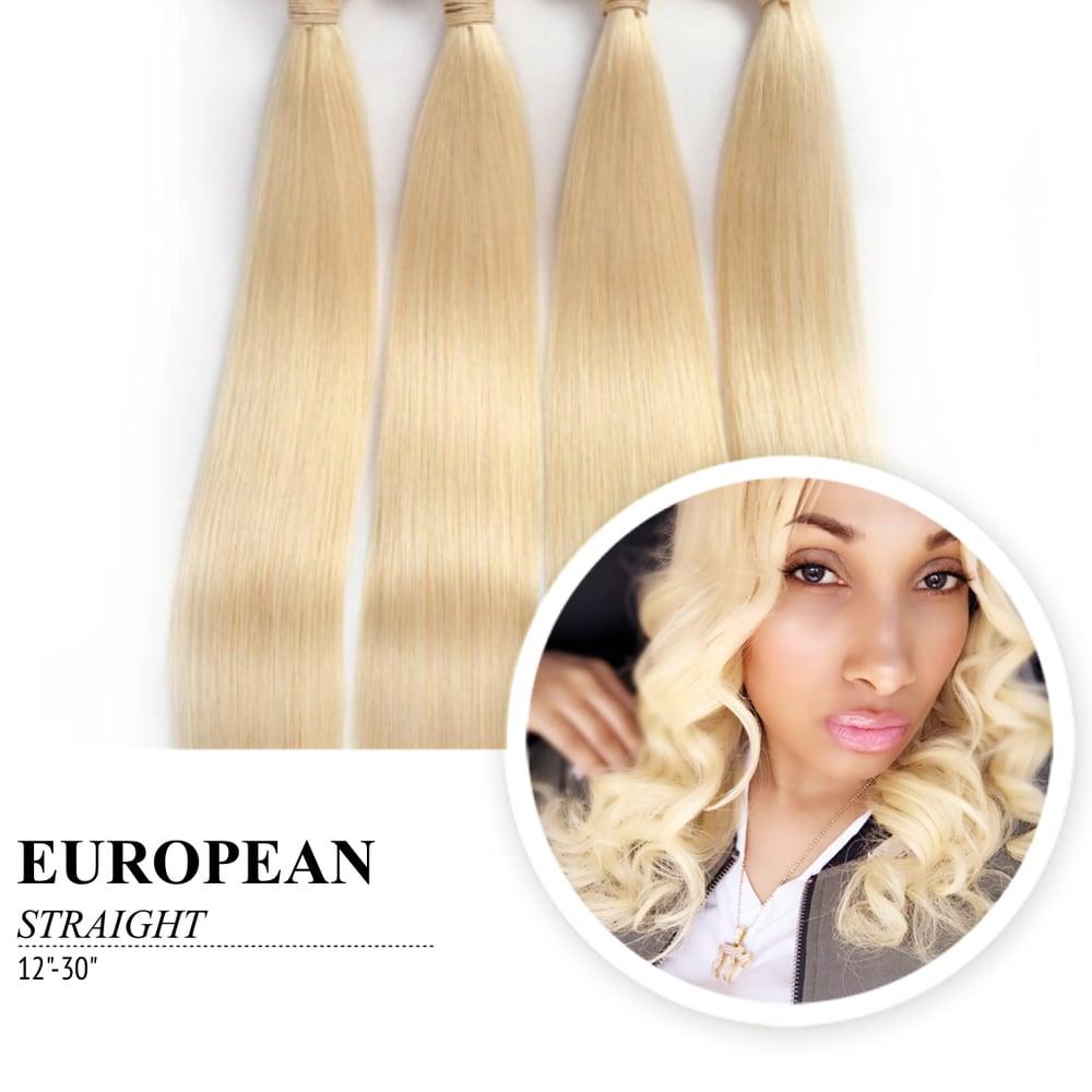 Image of 100% Virgin European Natural Straight