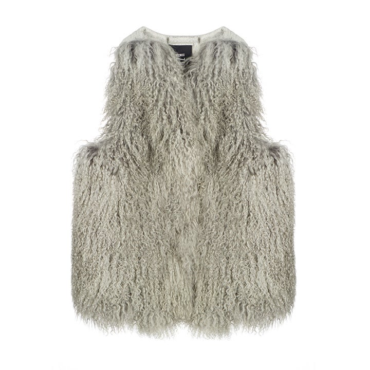 Image of AW16 Grey Mongolian & Wool Gilet