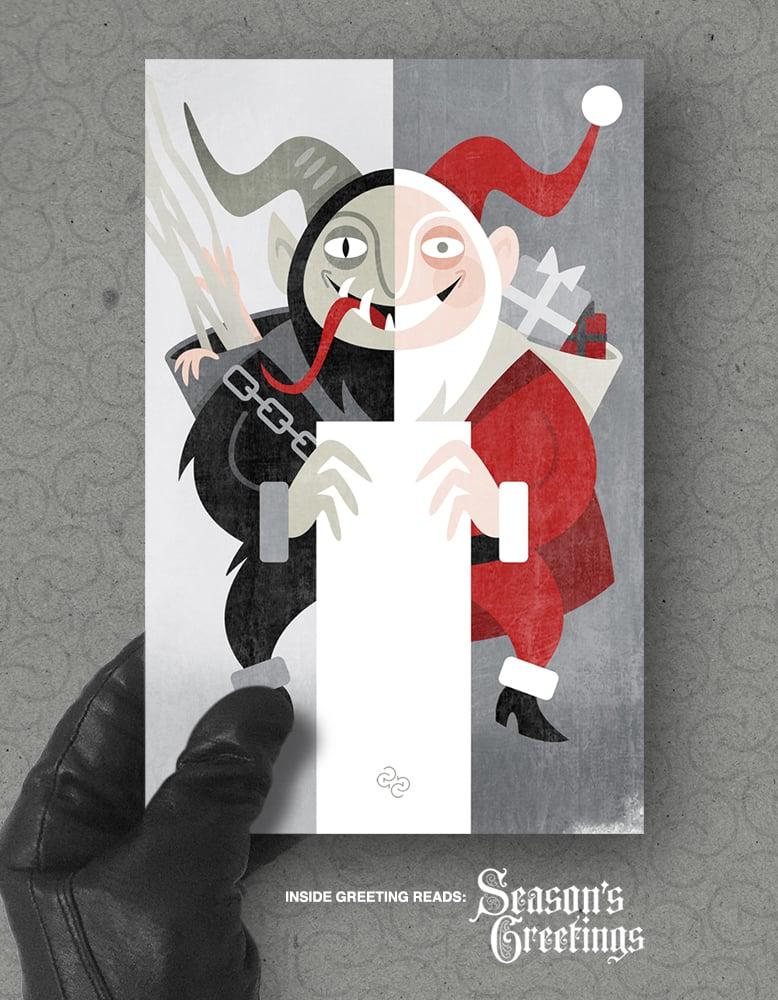Image of Xmas card pack: 'Season's Greetings'