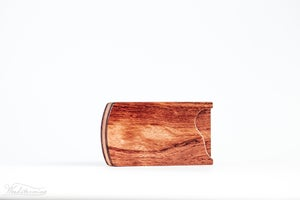 Image of Wood business card holder - mahogany and walnut