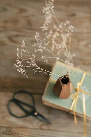 Image of Wavy wood vase