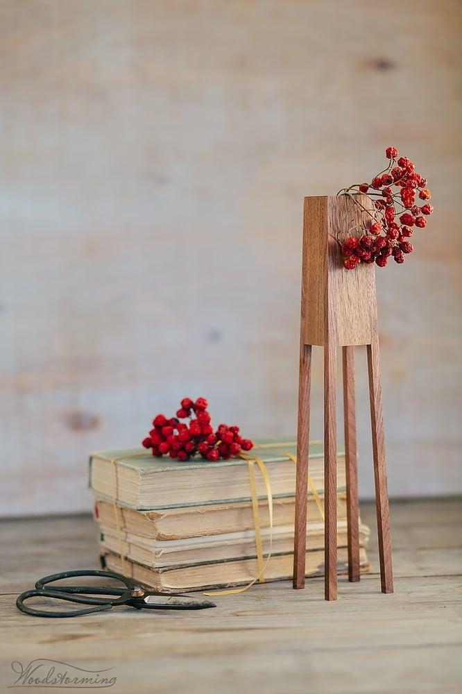 "Image of Modern wood vase ""Tower"" - dry flower vase - table centerpiece - handmade wood vase"