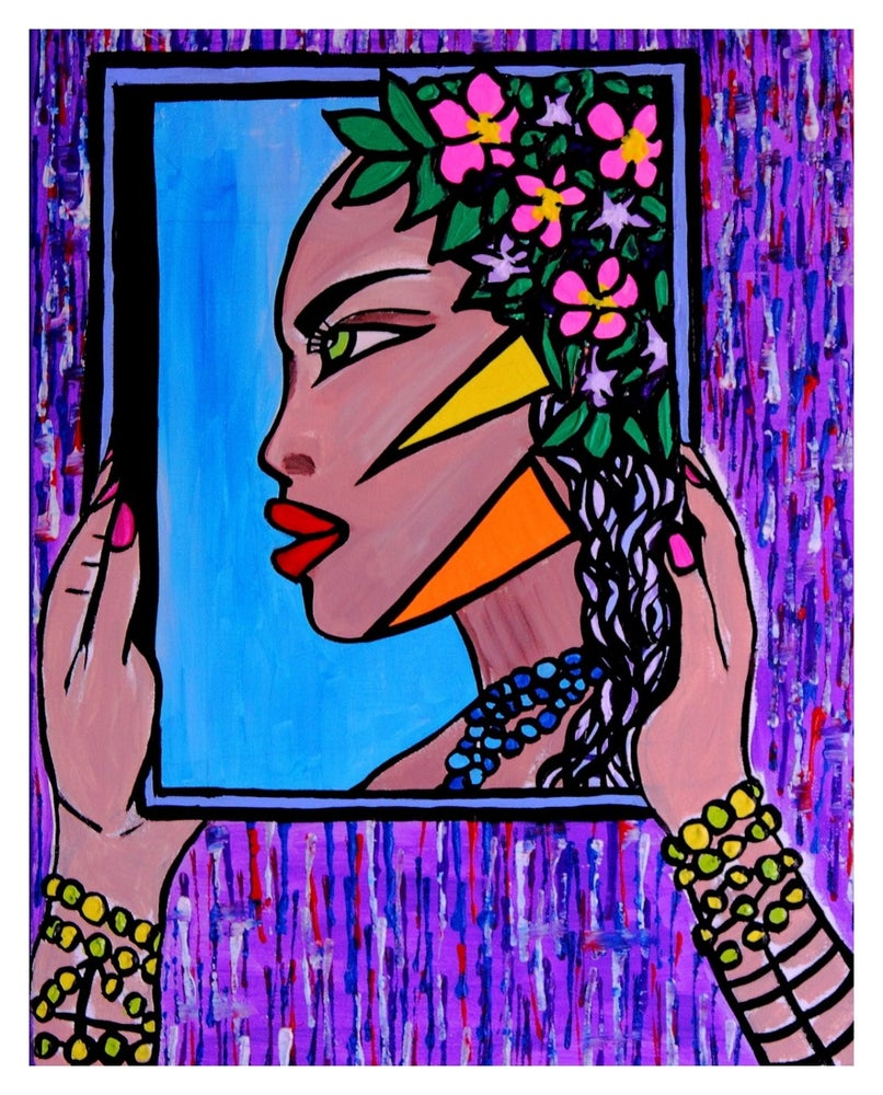 Image of Find Your Warrioress - Original Painting By Charlotte Farhan