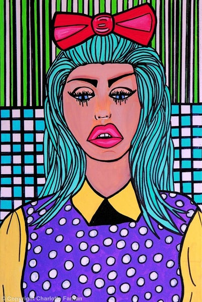 Image of Candy Girl - Original Painting By Charlotte Farhan