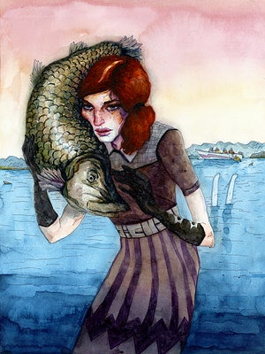 Image of Scarlett Original Painting
