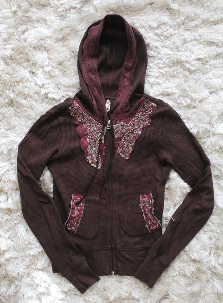 Image of Brown/Plum Free People Hoodie