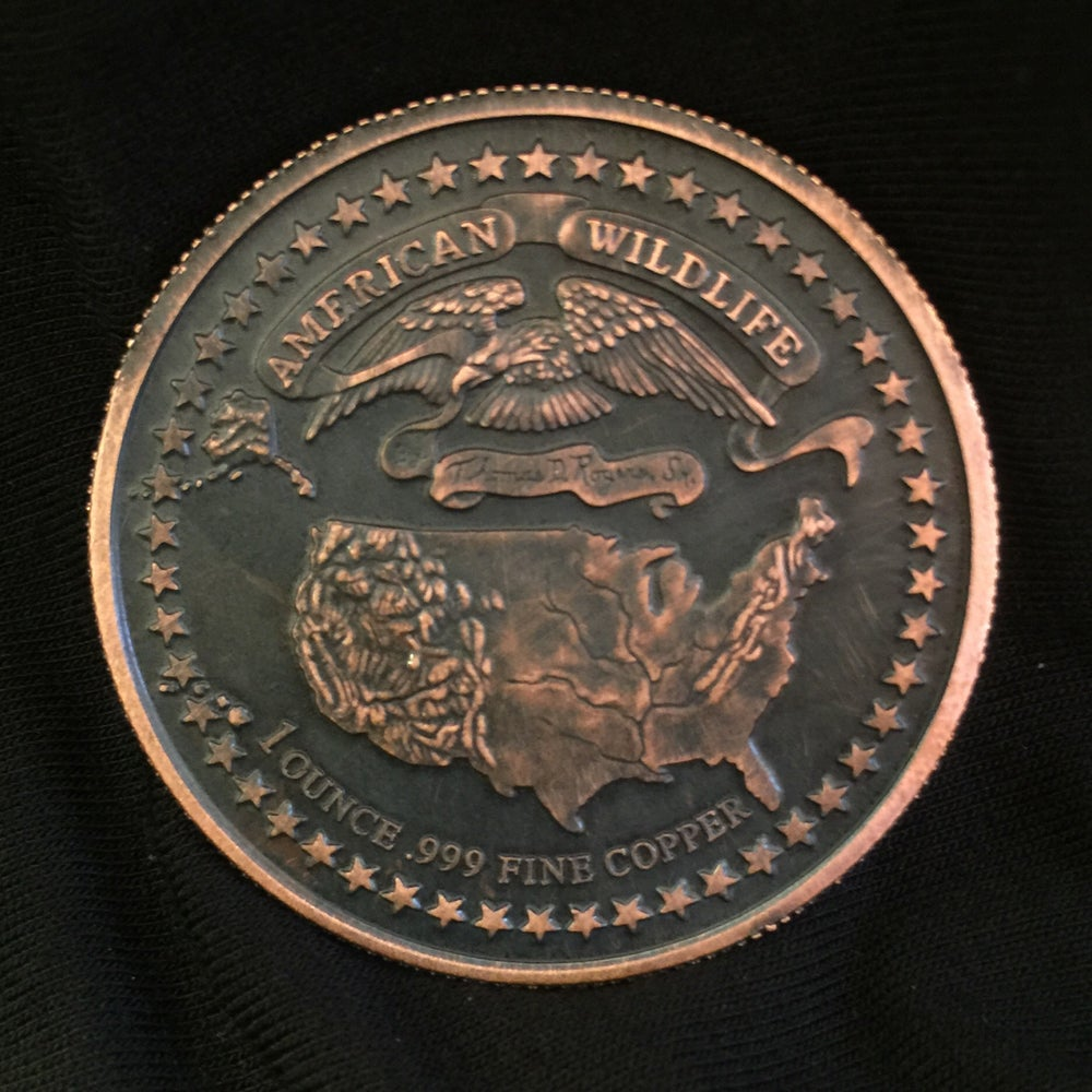 Image of Whitetail Deer 1oz Copper Challenge Coin