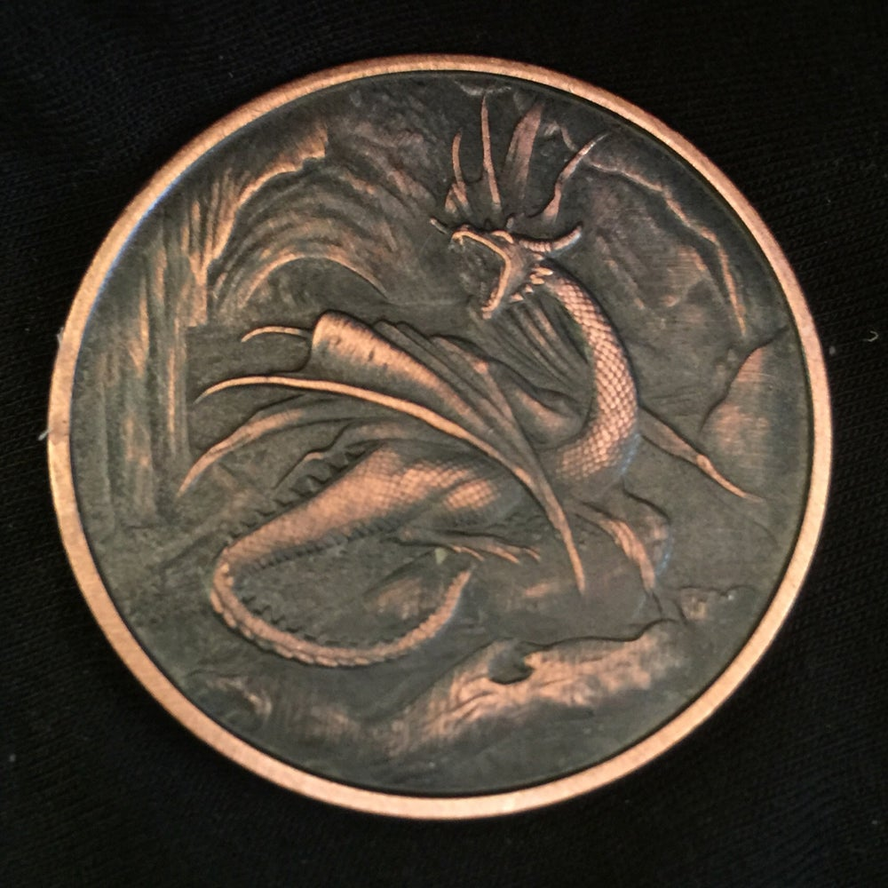 Image of Ancient Dragon 1oz Copper Challenge Coin