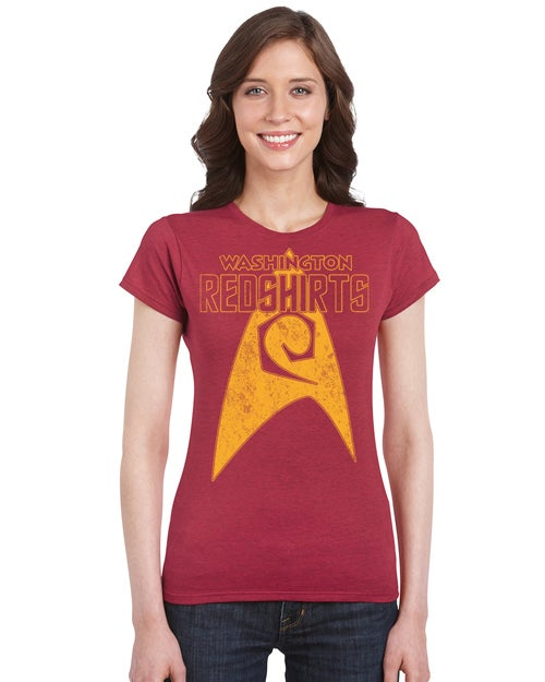 Image of Washington Redshirts Retro Look men's and ladies t-shirt