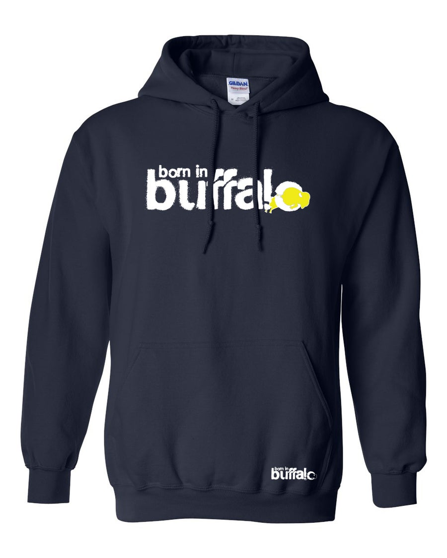 Image of Born In Buffalo Hooded Sweatshirt