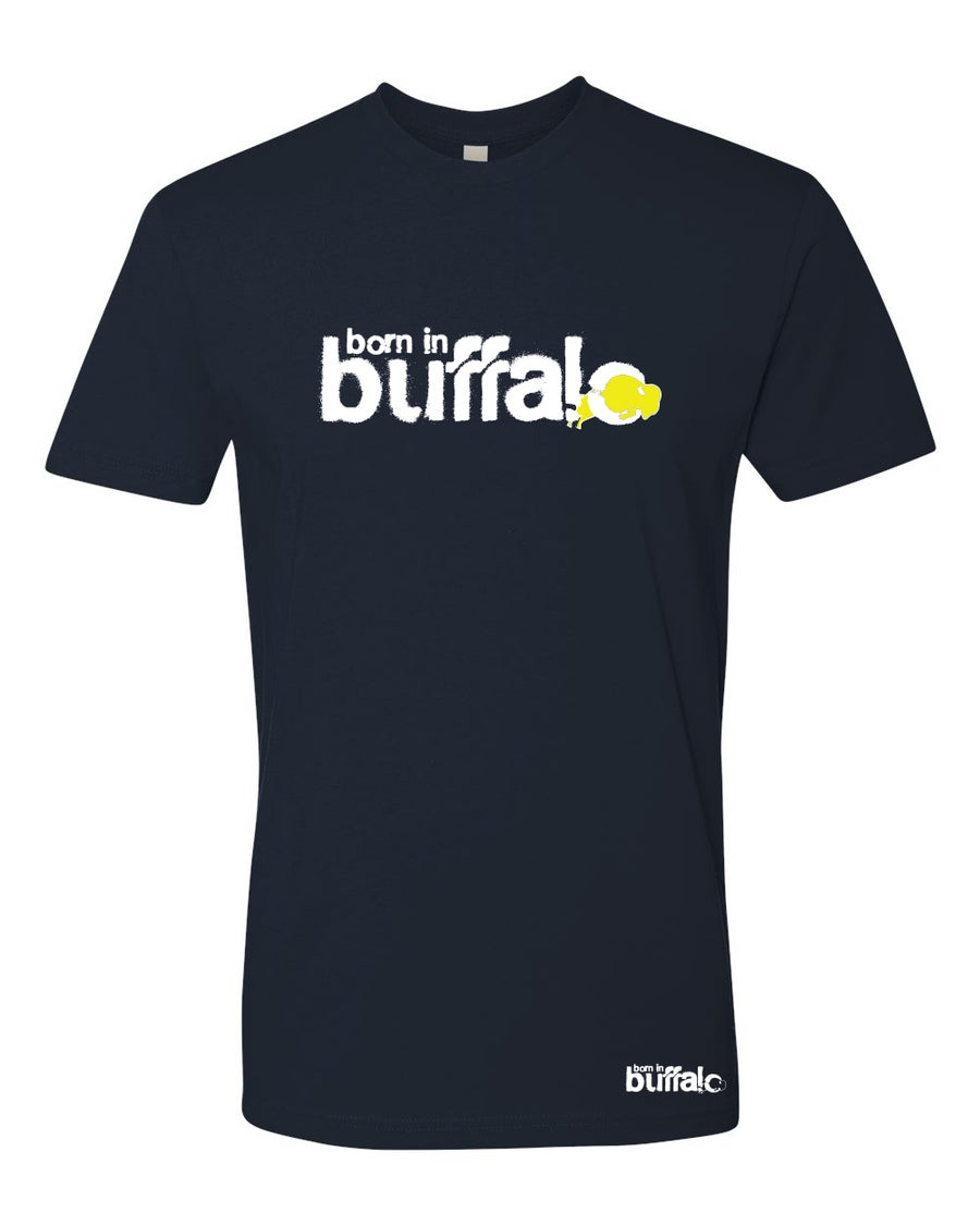 Image of Born In Buffalo Classic T-Shirt NAVY