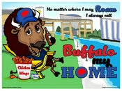 "Image of ""BUFFALO MY HOME"" Buffalo NY Poster Prints"