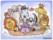 "Image of ""NOAHS ARK"" Kids Poster Prints"