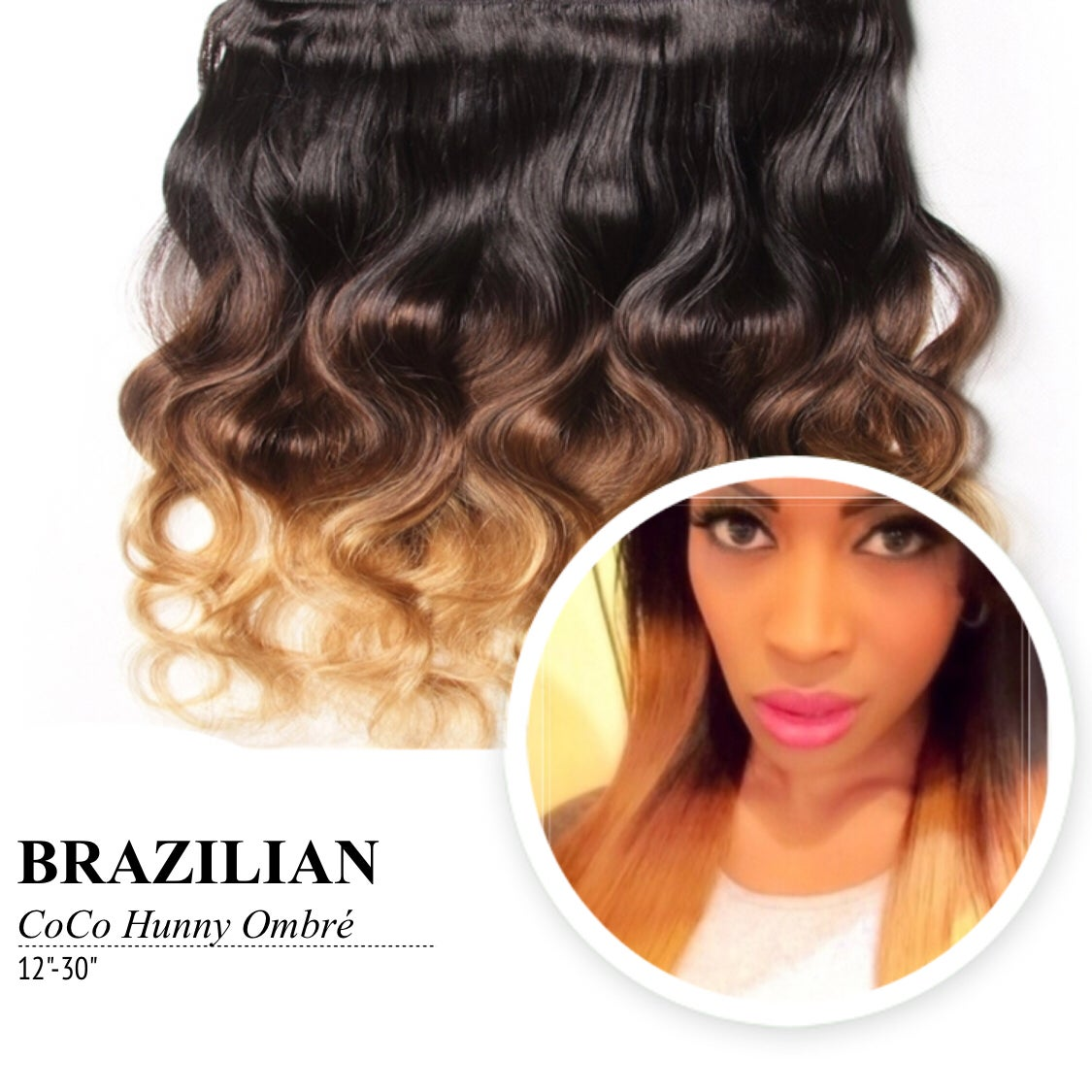 Image of COCO HONEY Ombre Brazilian Body Wave