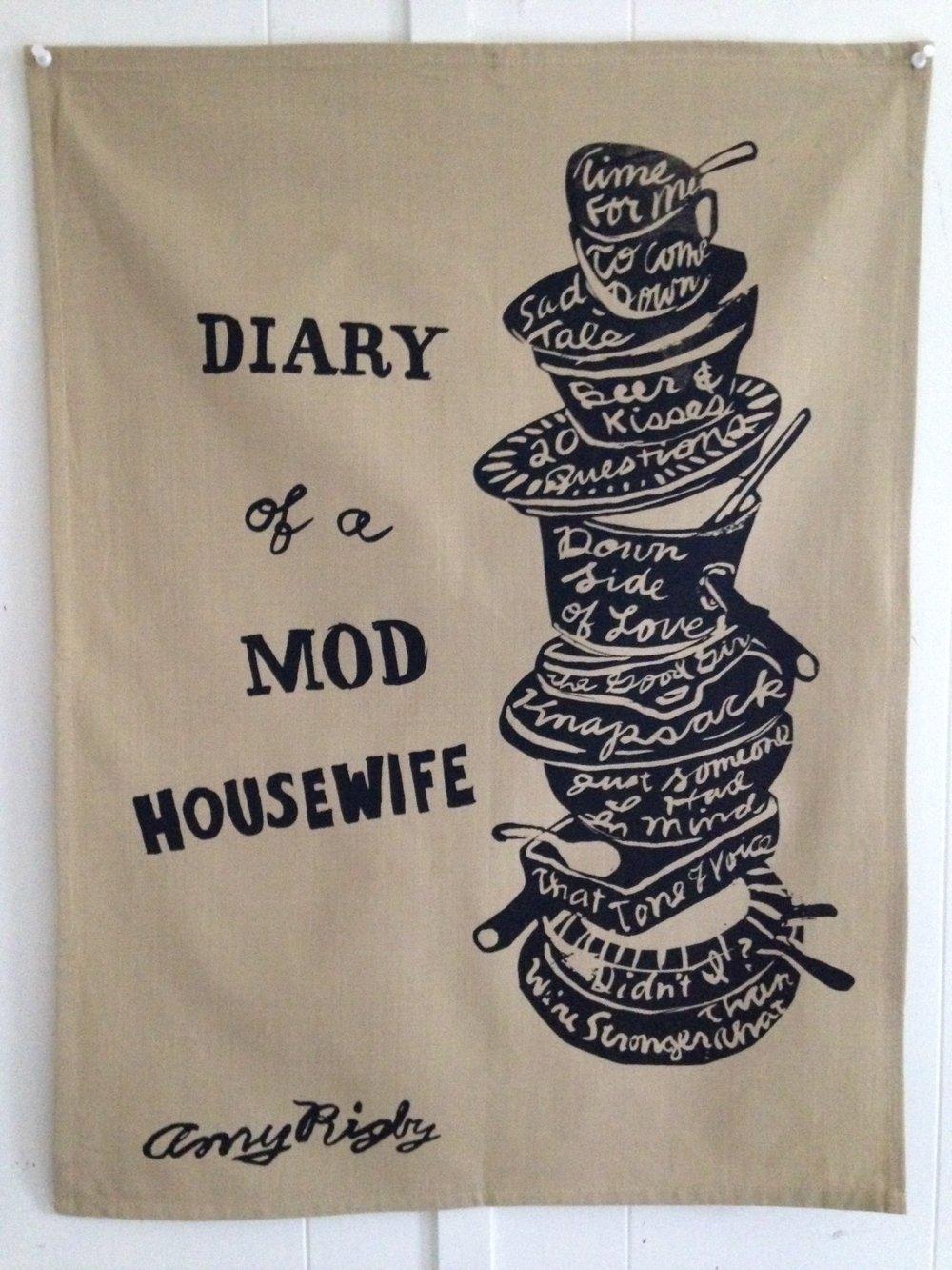 Image of Diary Of A Mod Housewife tea towel