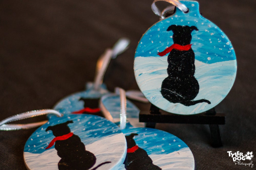 Image of Limited Edition 2016 Pit Bull Winter Wonderland Christmas Ornament