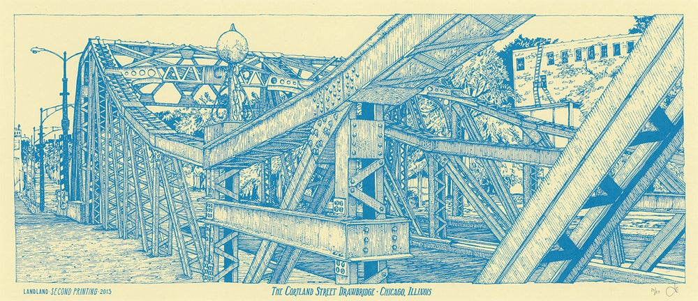 """The Cortland Street Drawbridge"" • Limited Edition Art Print (9.5"" x 24"")"