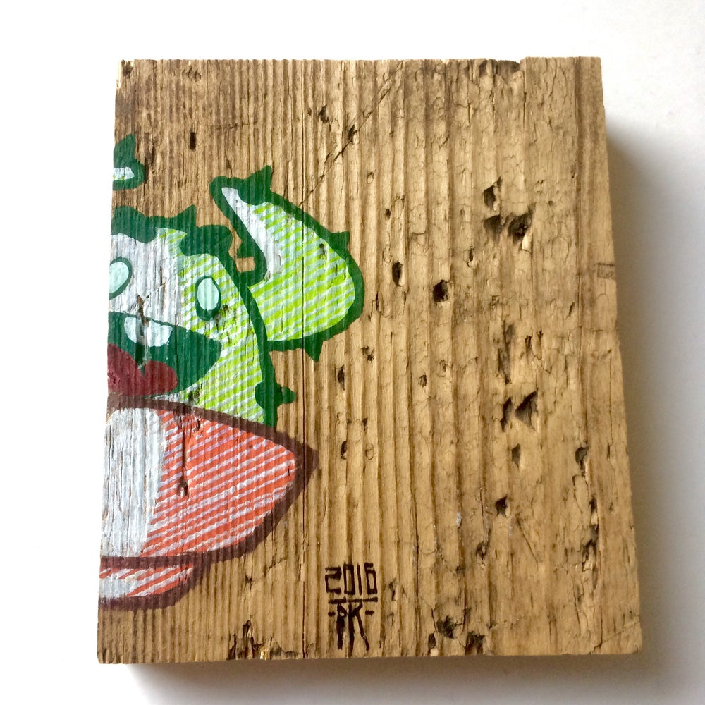 Image of 'Hello there' - CactusClan drawing on wood