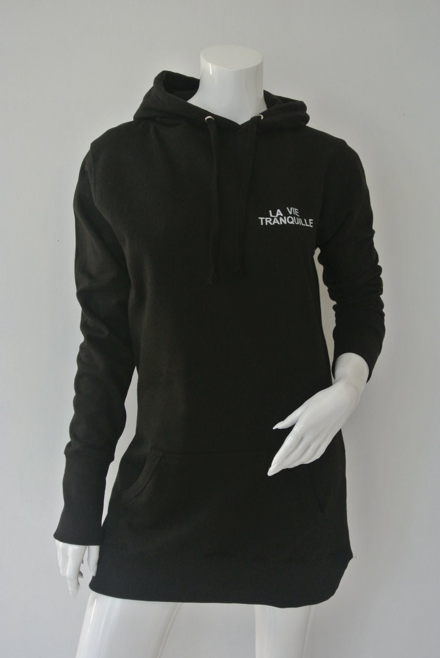 Image of Long body hooded with print