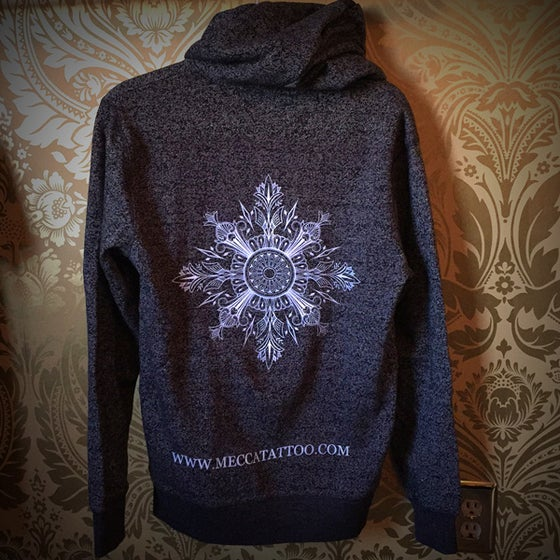 Image of Snowflake Zip Up Hoodie