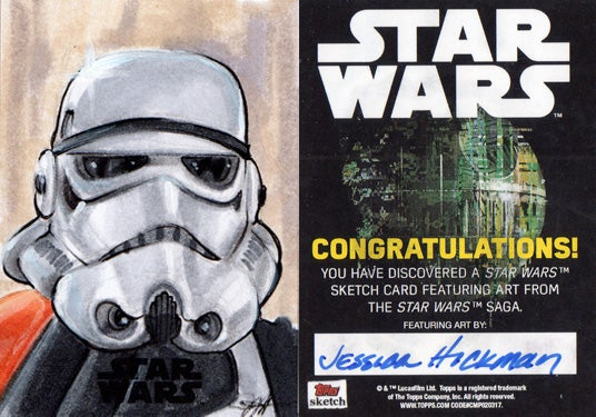 Image of One Topps/Lucasfilm Trooper sketch card