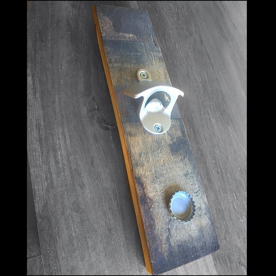 Image of Bourbon Barrel Stave Bottle Opener