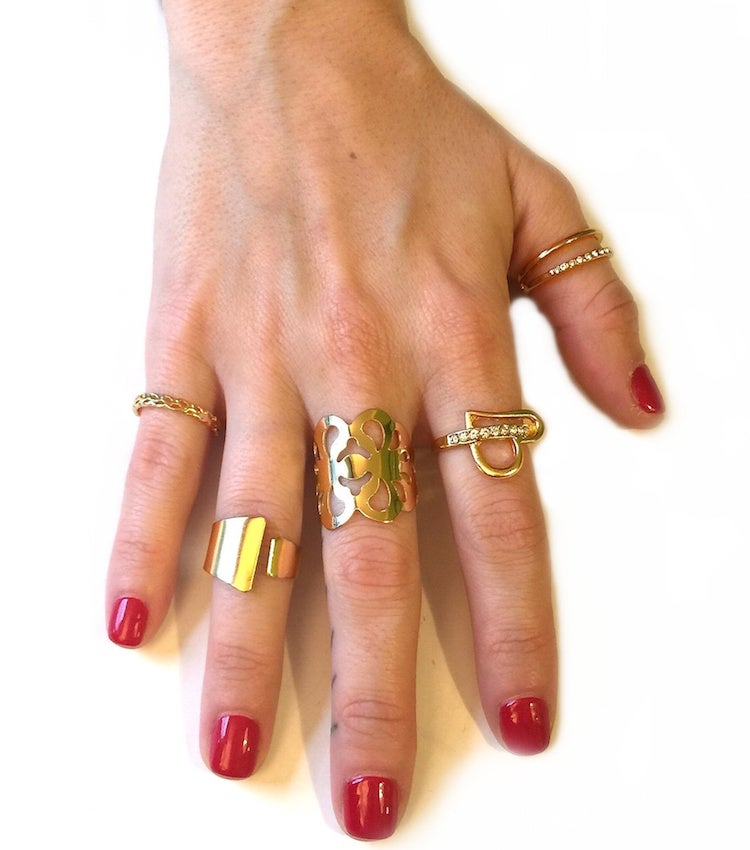 Image of 5 pc Rhinestone Accent Ring Set (More Colors)