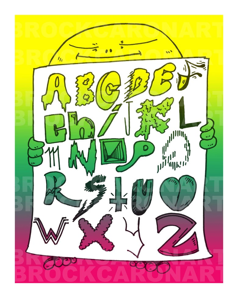 "Image of ""Alphabet"" Print"