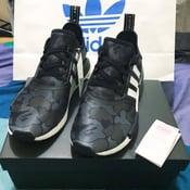 Image of adidas bape nmd black camo