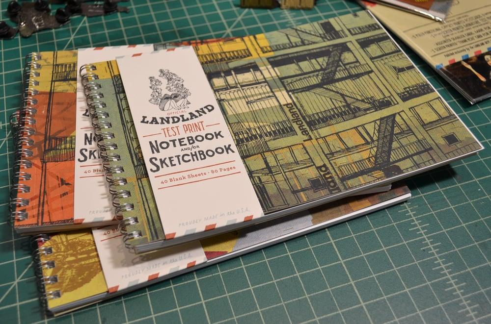 The Official Landland Test Print Notebook and/or Sketchbook